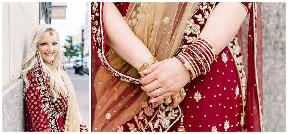 Gorgeous bride in Hindu wedding attire| Hindu bangles| Tulsa Indian wedding| Tulsa wedding venue| The Mayo Tulsa| Andi Bravo Wedding Photography