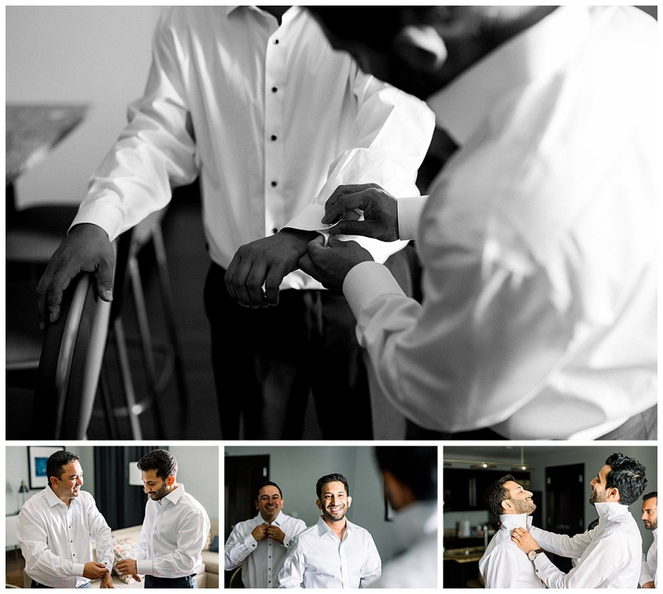 Groom getting ready with groomsmen| The Mayo Hotel| Tulsa wedding photographer| Andi Bravo Photography