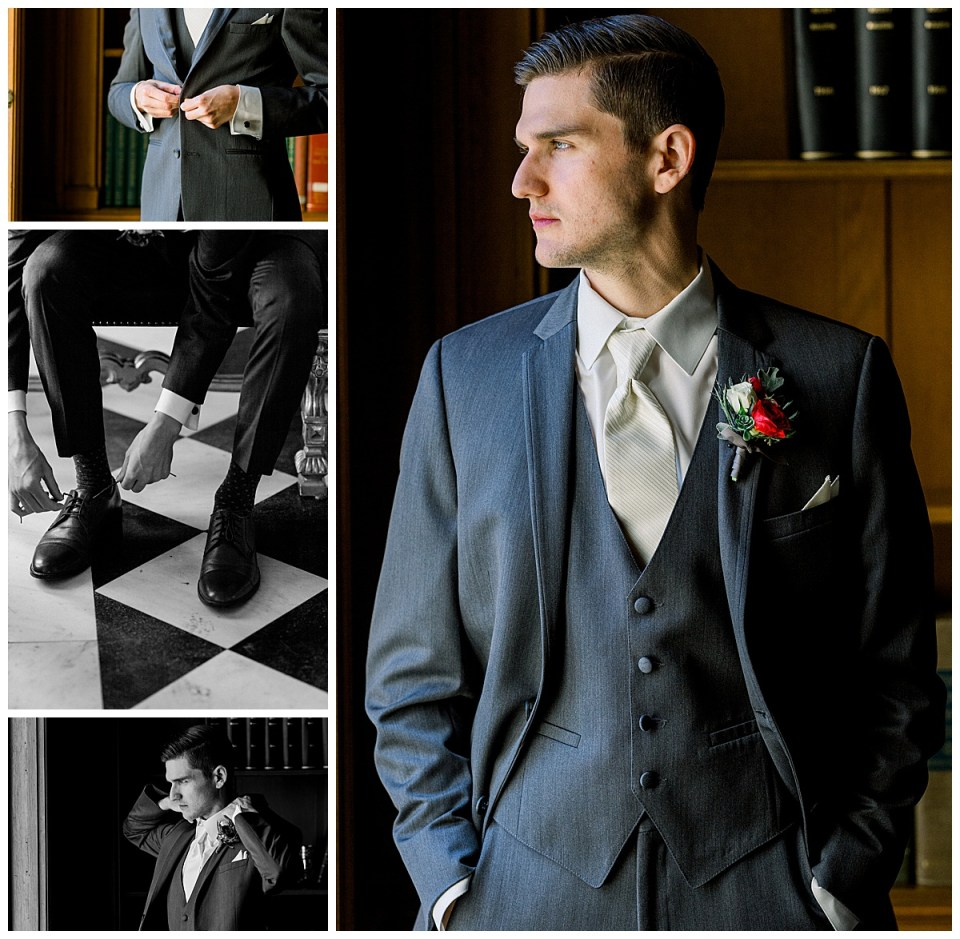 Groom getting ready shots| Tulsa wedding venue| The Mansion at Woodward Park| Tulsa wedding photographer| Andi Bravo Photography
