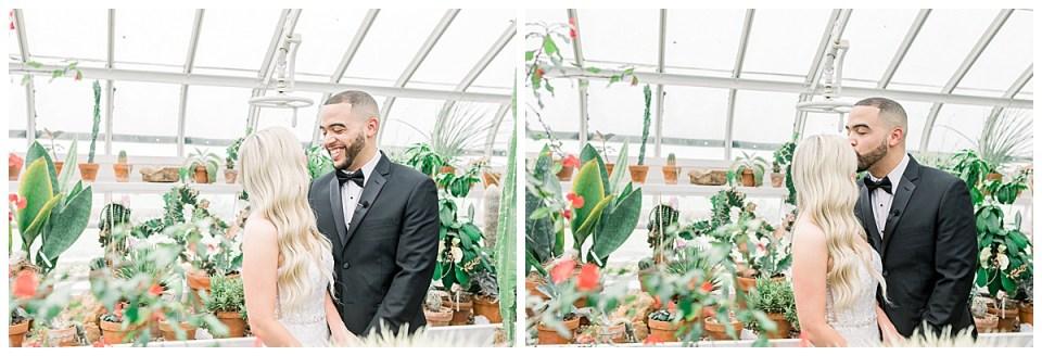 Greenhouse first look| Tulsa bride|Tulsa greenhouse| Tulsa wedding photographer| Andi Bravo Photography