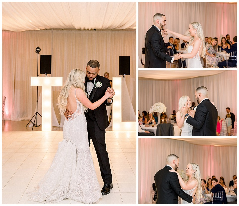 Bride and groom first dance at The Mansion at Woodward Park| Andi Bravo Photography