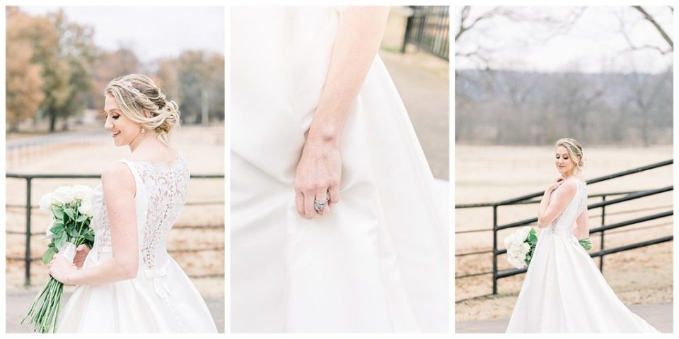 Bridal shots at Pecandarosa Ranch wedding venue Tulsa