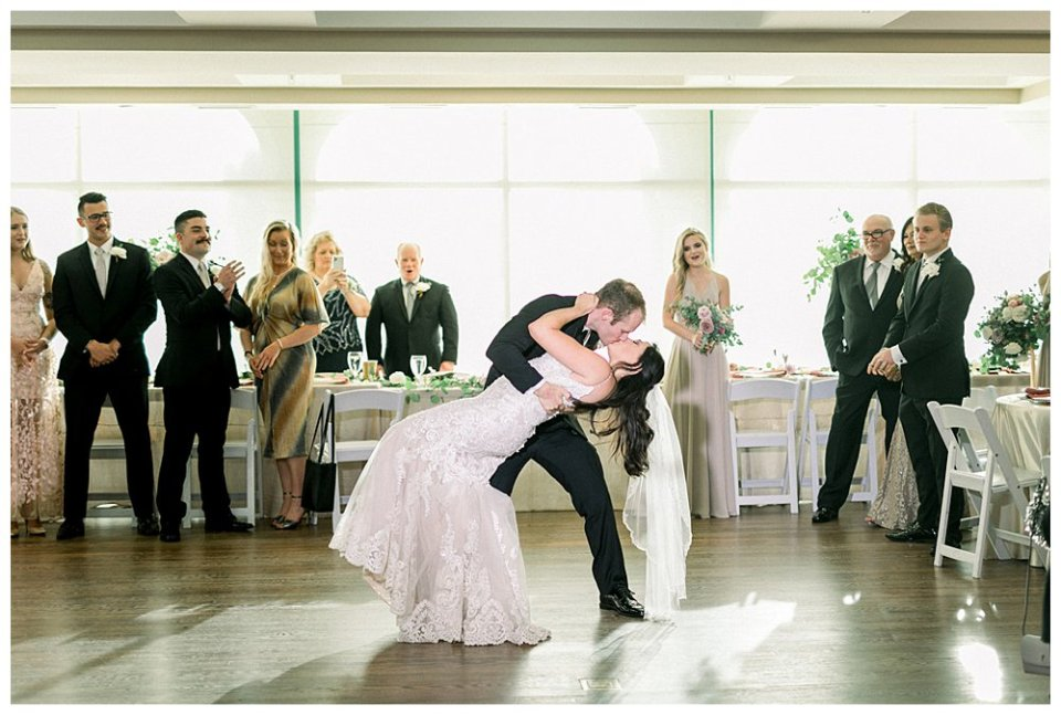 Bride and groom first dance at Mansion at Woodward Park