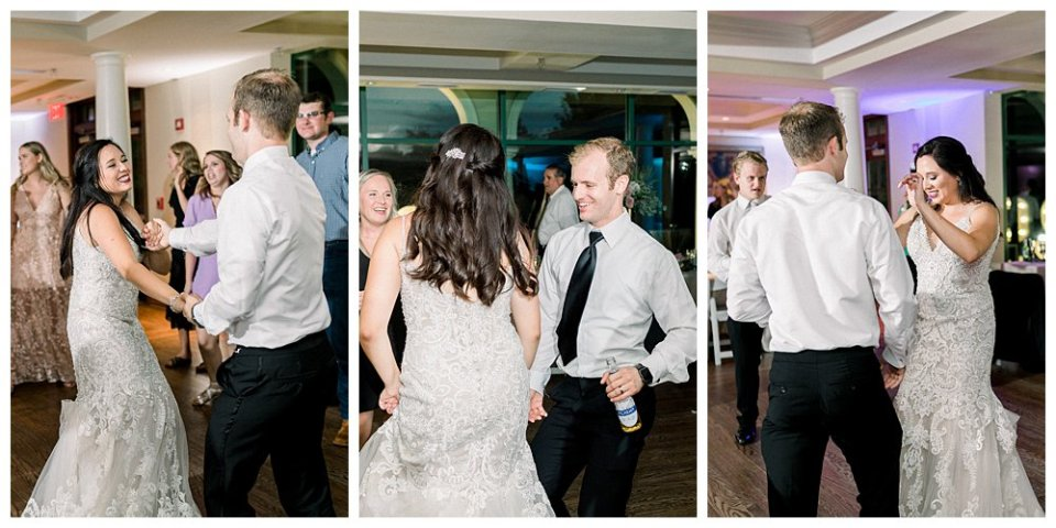 Bride and groom on the dancefloor at Mansion at Woodward Park