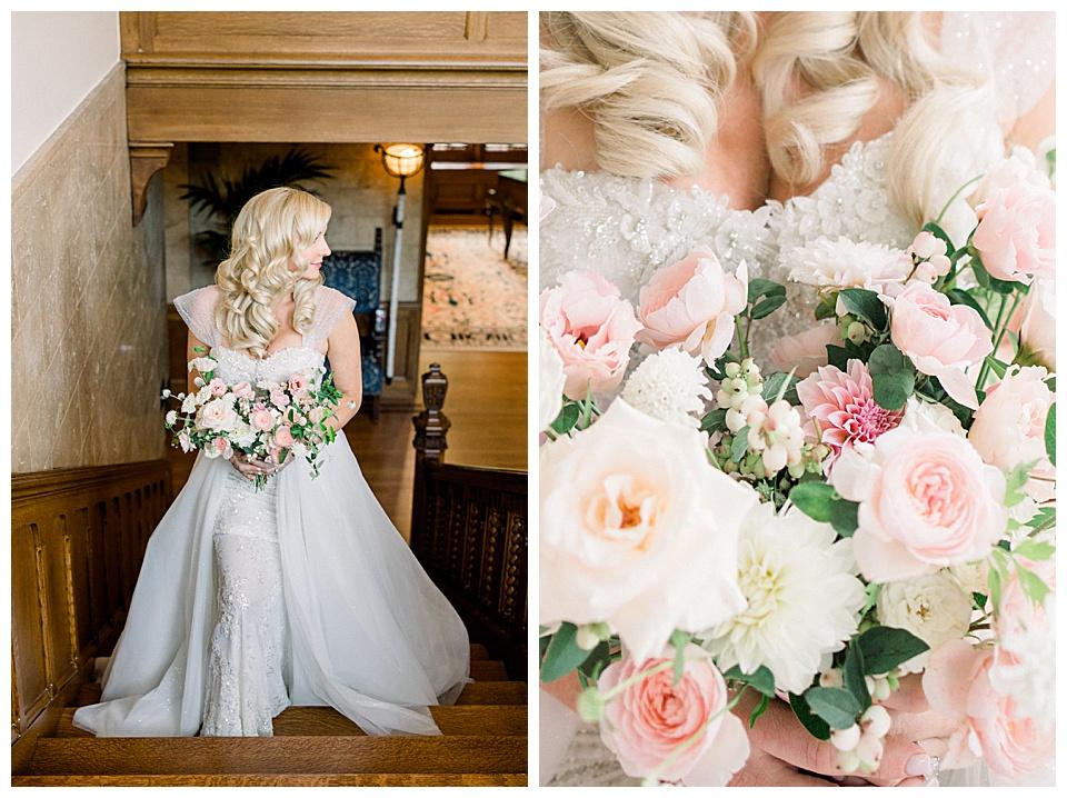 Detail shots, or photos, highlighting floral arrangement