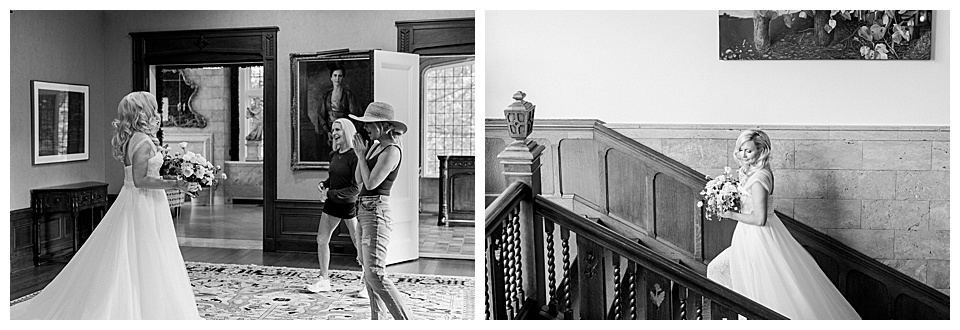 Stunning Black and white photos of bride reveal to family