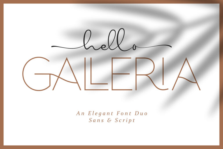 Preview image of HELLO GALLERIA || FONT DUO