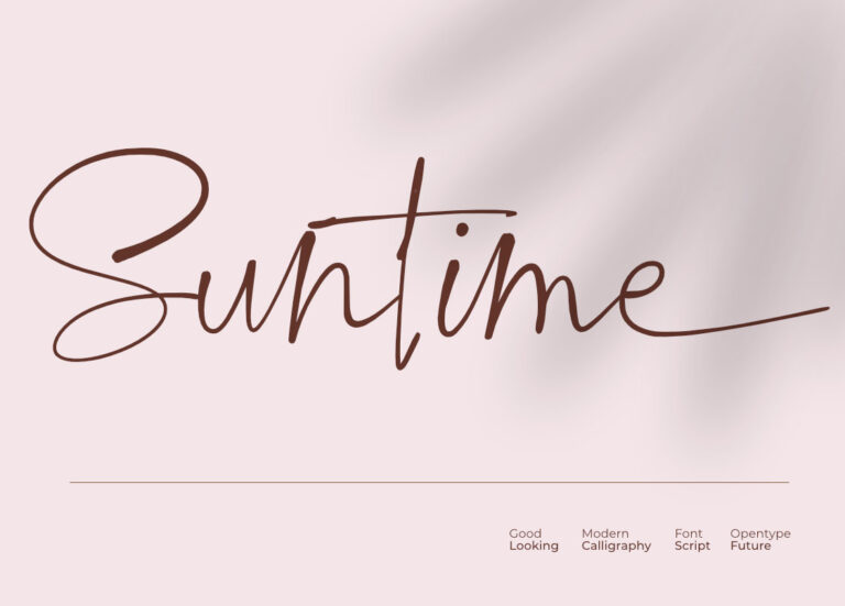 Preview image of SUNTIME || A SCRIPT FONT