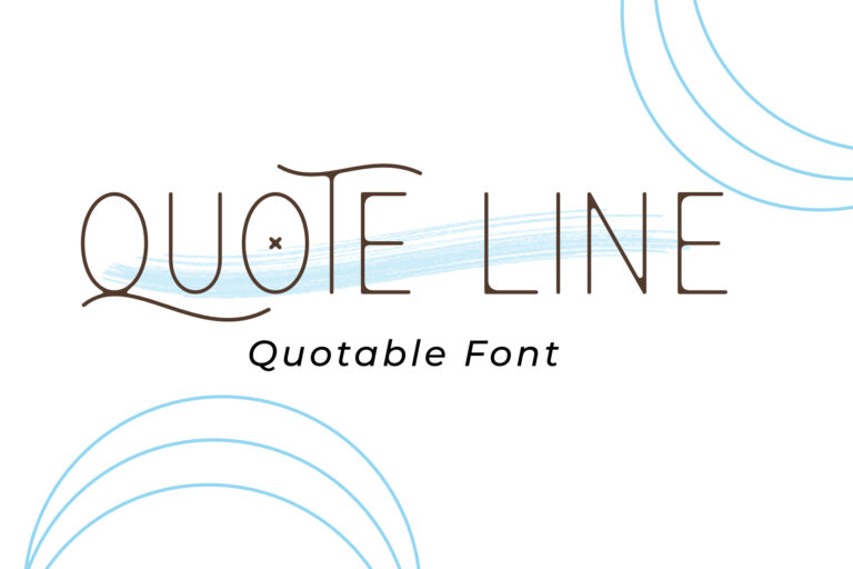 QUOTE LINE FONT