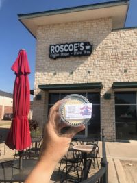 Roscoe's Coffee House store front in Keller, Texas