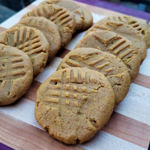 Keto, Gluten free, low-carb, Peanut Butter Cookies