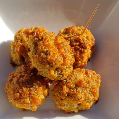 Keto, gluten-free, low-carb Sausage Balls