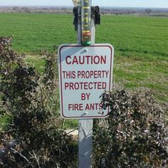 fireant sign