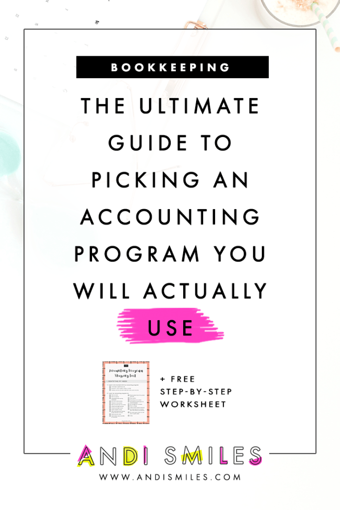Bookkeeping programs come in all shapes and sizes but I promise there is one just for you! Click through to download the free 4-page worksheet to find identify your needs and find your perfect record keeping system.  #businesstips #entrepreneurtips