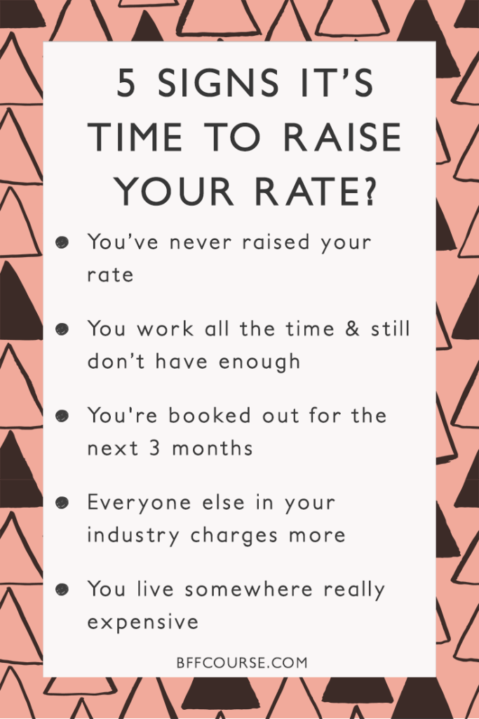 Freelance Income  Service Rate  Raising Rate  How to Raise Rate  Solopreneur   Income