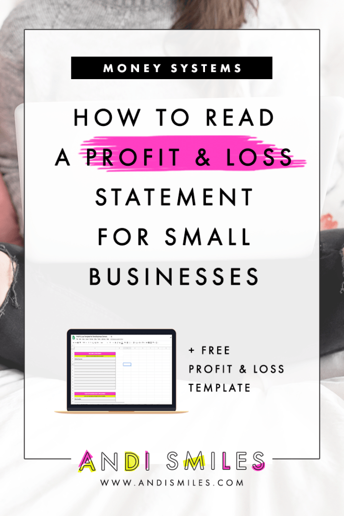 Ever wondered how to use a profit and loss statement for your small business? I've got ya covered. I'm walking you through everything you need to know about Profit and Loss reports. This is your full-on profit and loss statement tutorial: What it is, how to read it, and how to use the report to gain valuable insight into your business. Click through to become a Profit and Loss report master! #smallbusiness #profitandloss