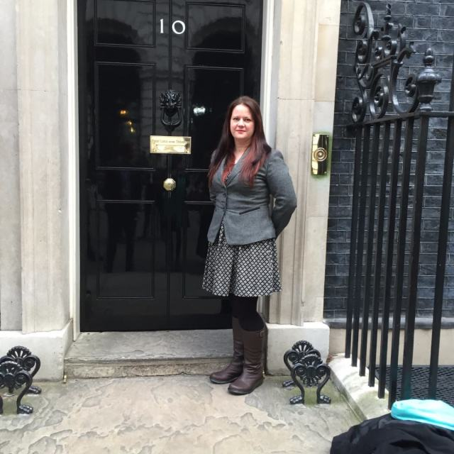Me at Number 10 Downing Street