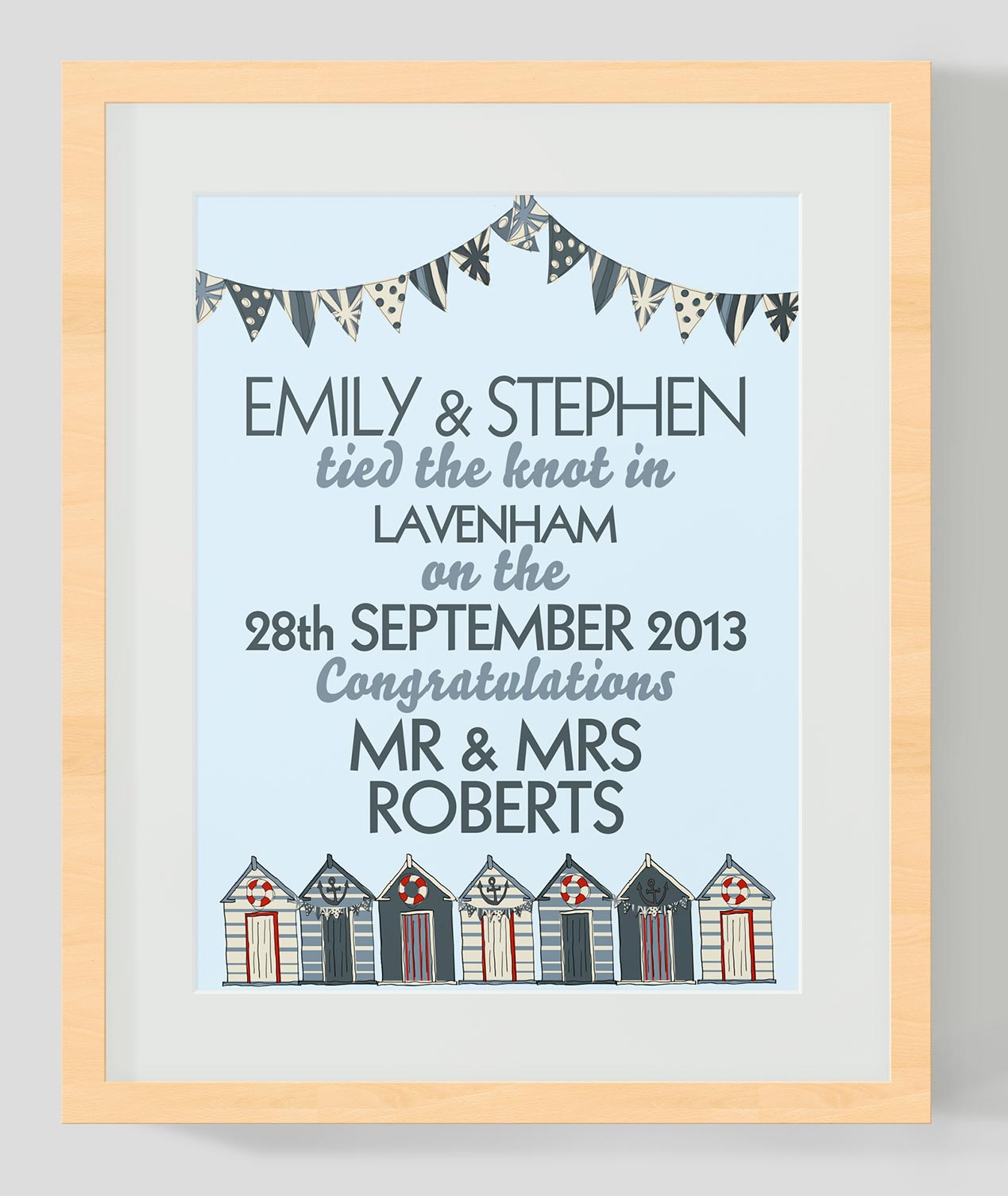 wedding print for stephen and emily
