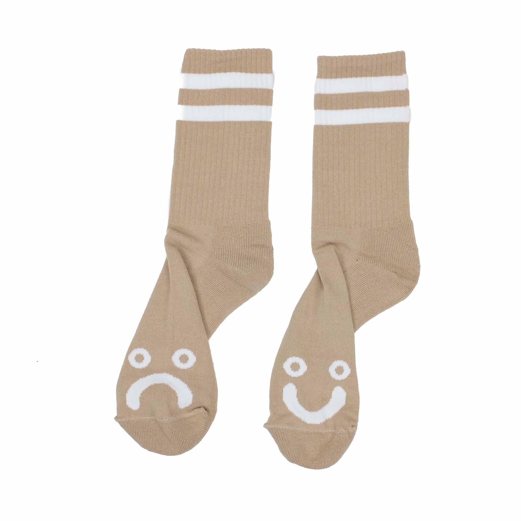 Polar Skate Co. Happy Sad Socks - Sand