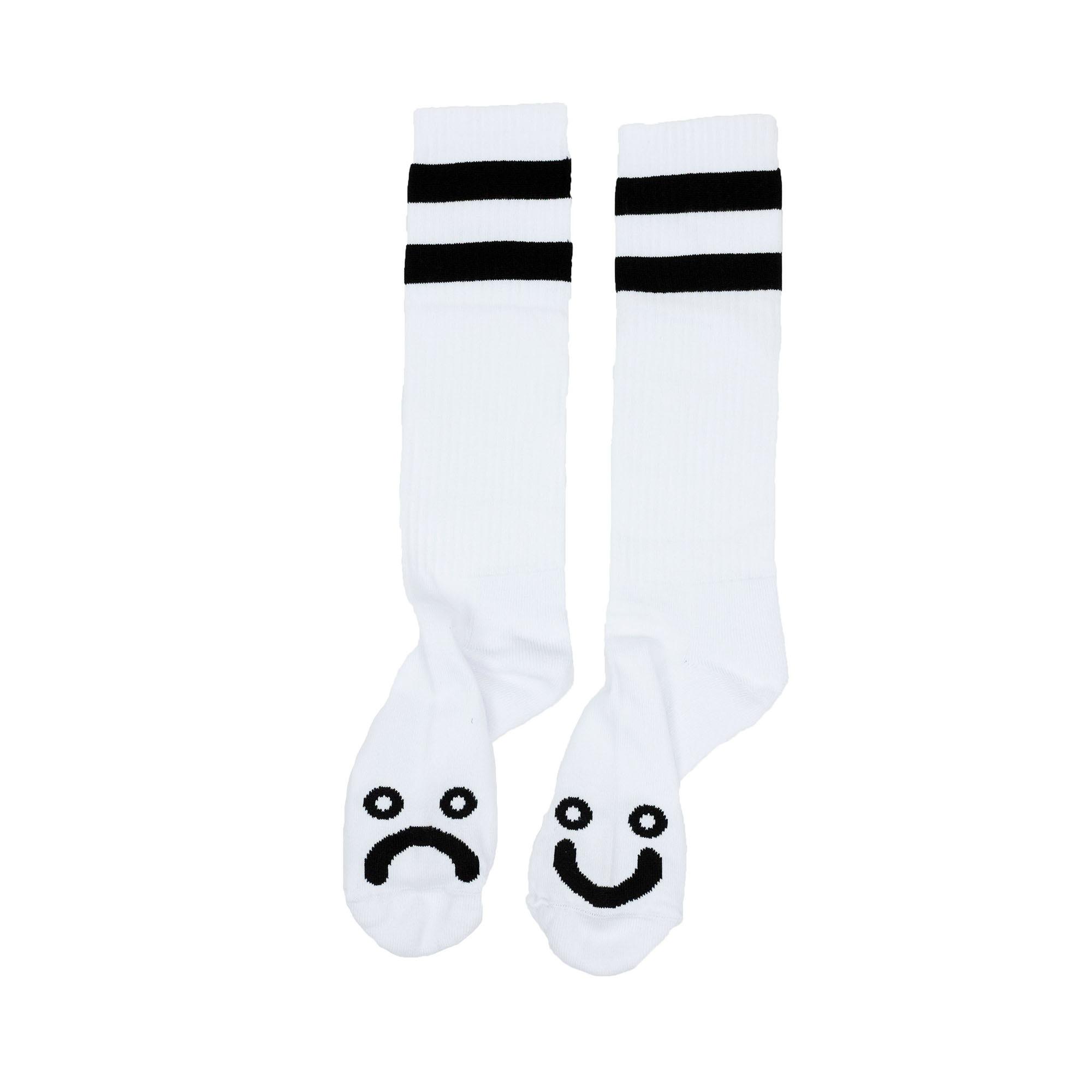 Polar Skate Co. Happy Sad Socks - White