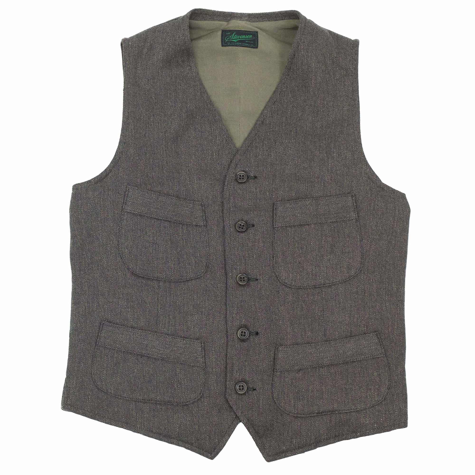 Stevenson Overall Co. Huntsman Vest - Charcoal Heather