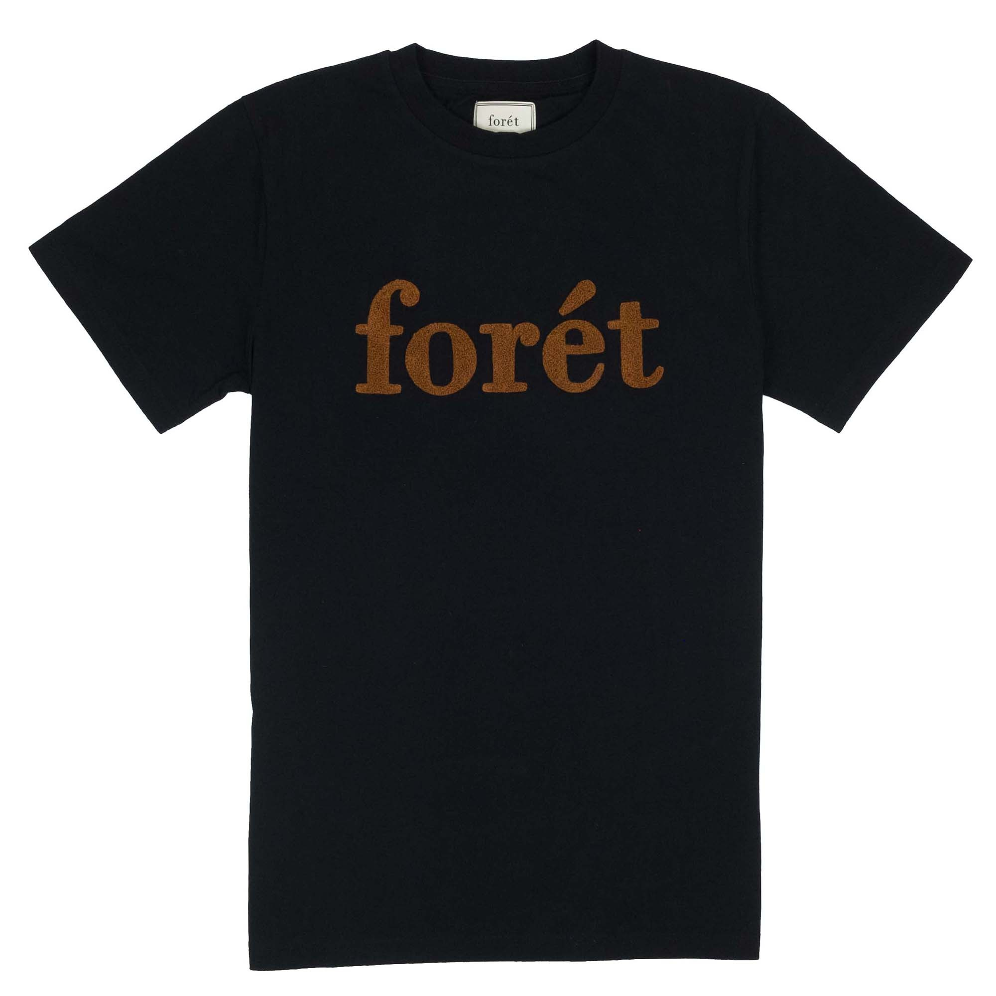 forét Log T Shirt - Black/Brick