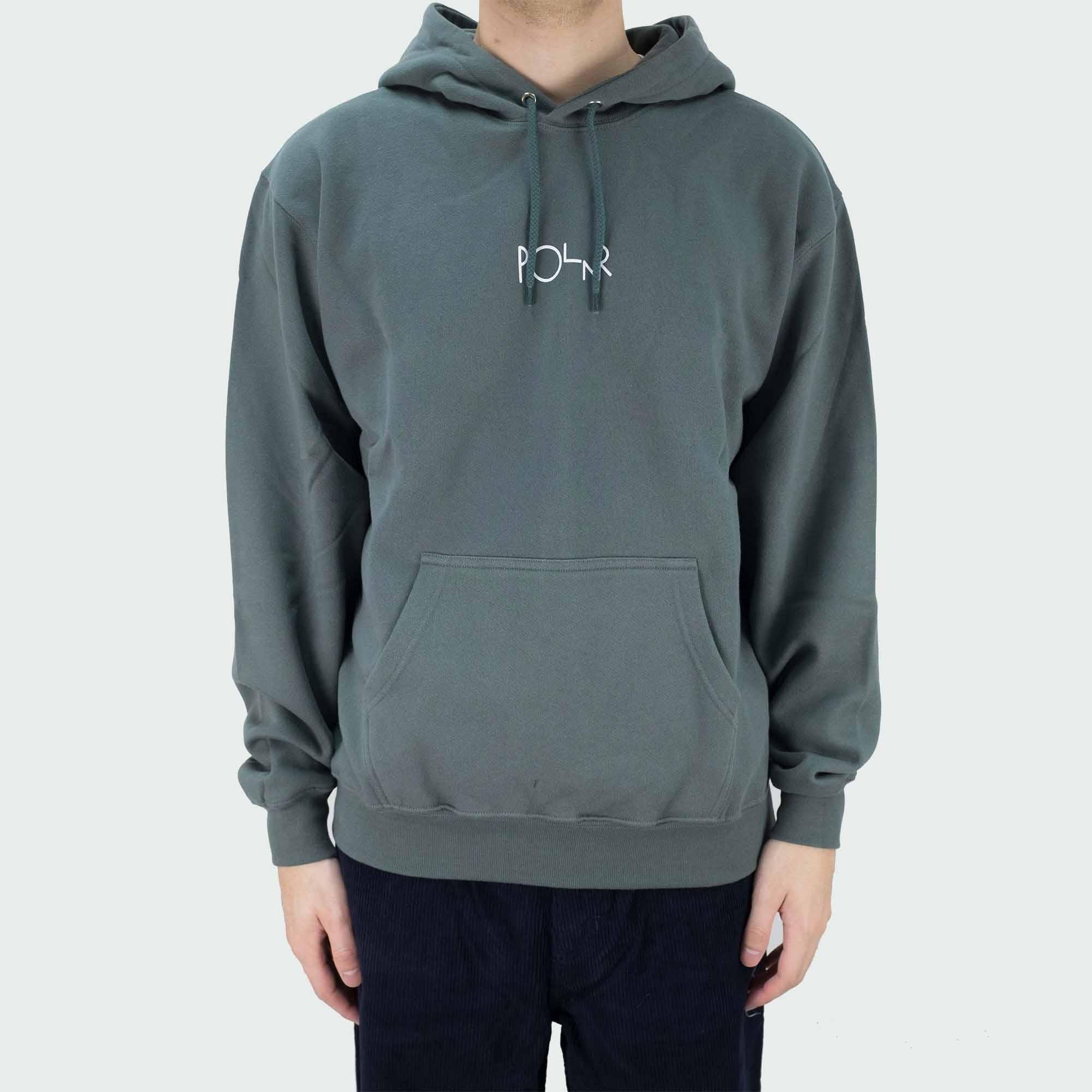Polar Skate Co. Stroke Logo Hoodie - Grey Green