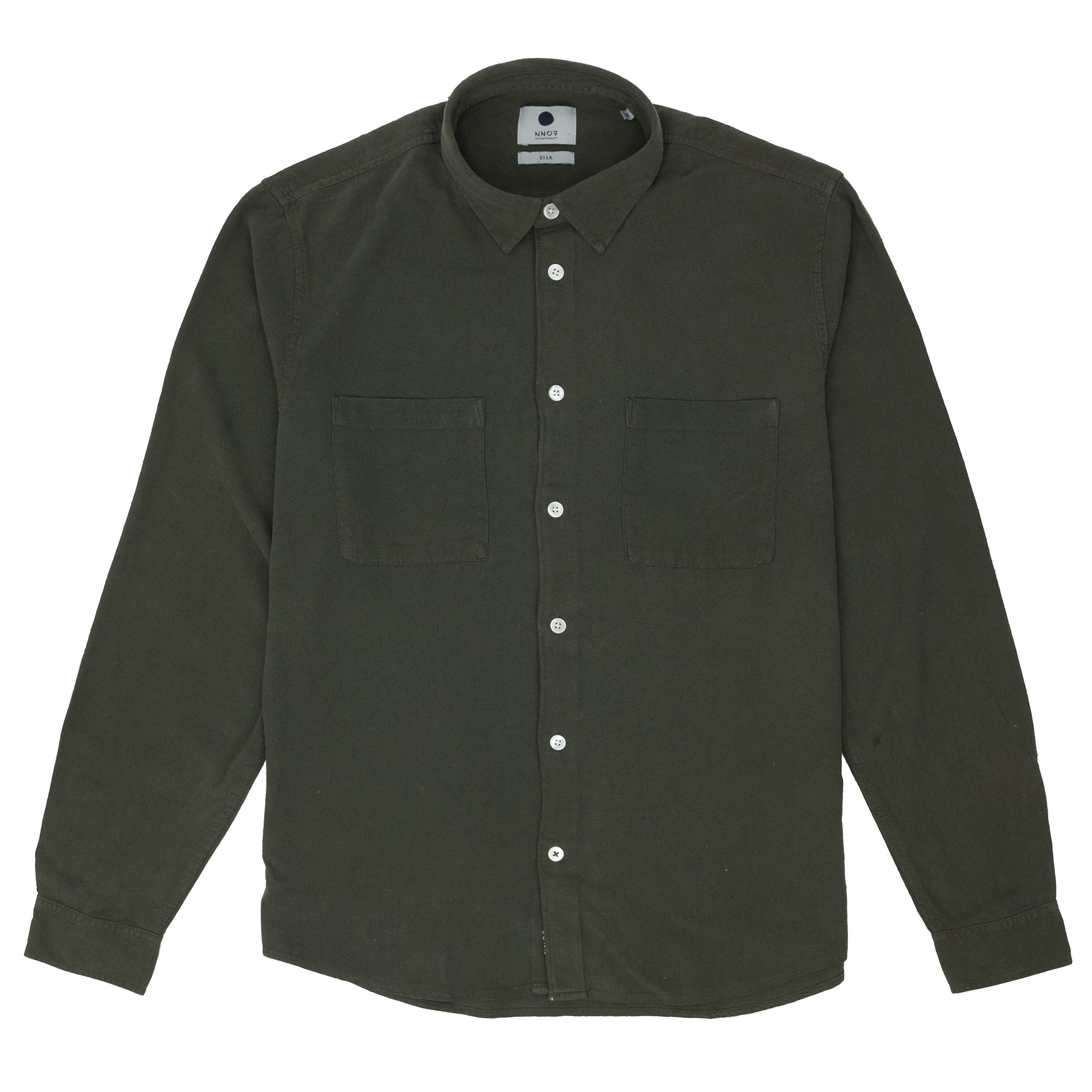 NN07 Alberto 5107 Silk Shirt - Deep Green