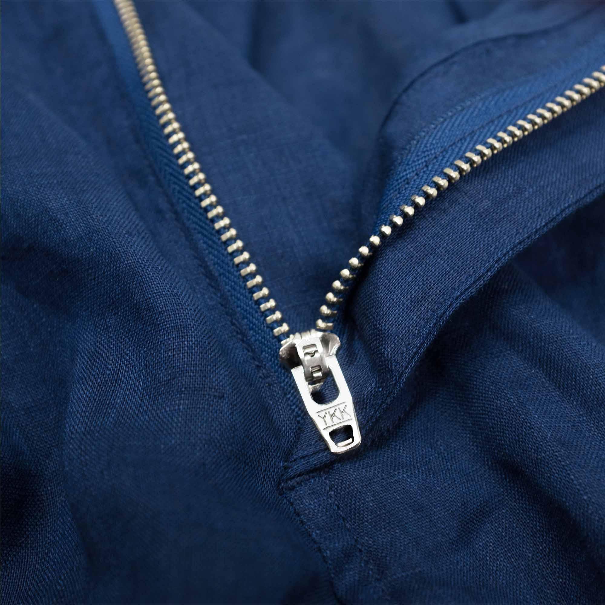 Monitaly Drop Crotch Pants - Lt Linen Navy