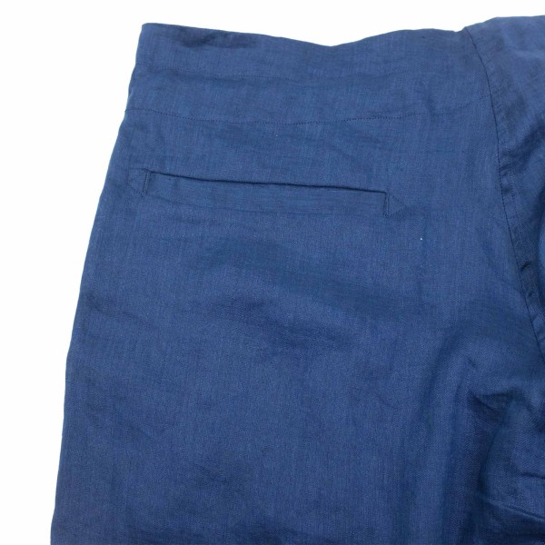 Monitaly Drop Crotch Pants - Lt Linen Navy