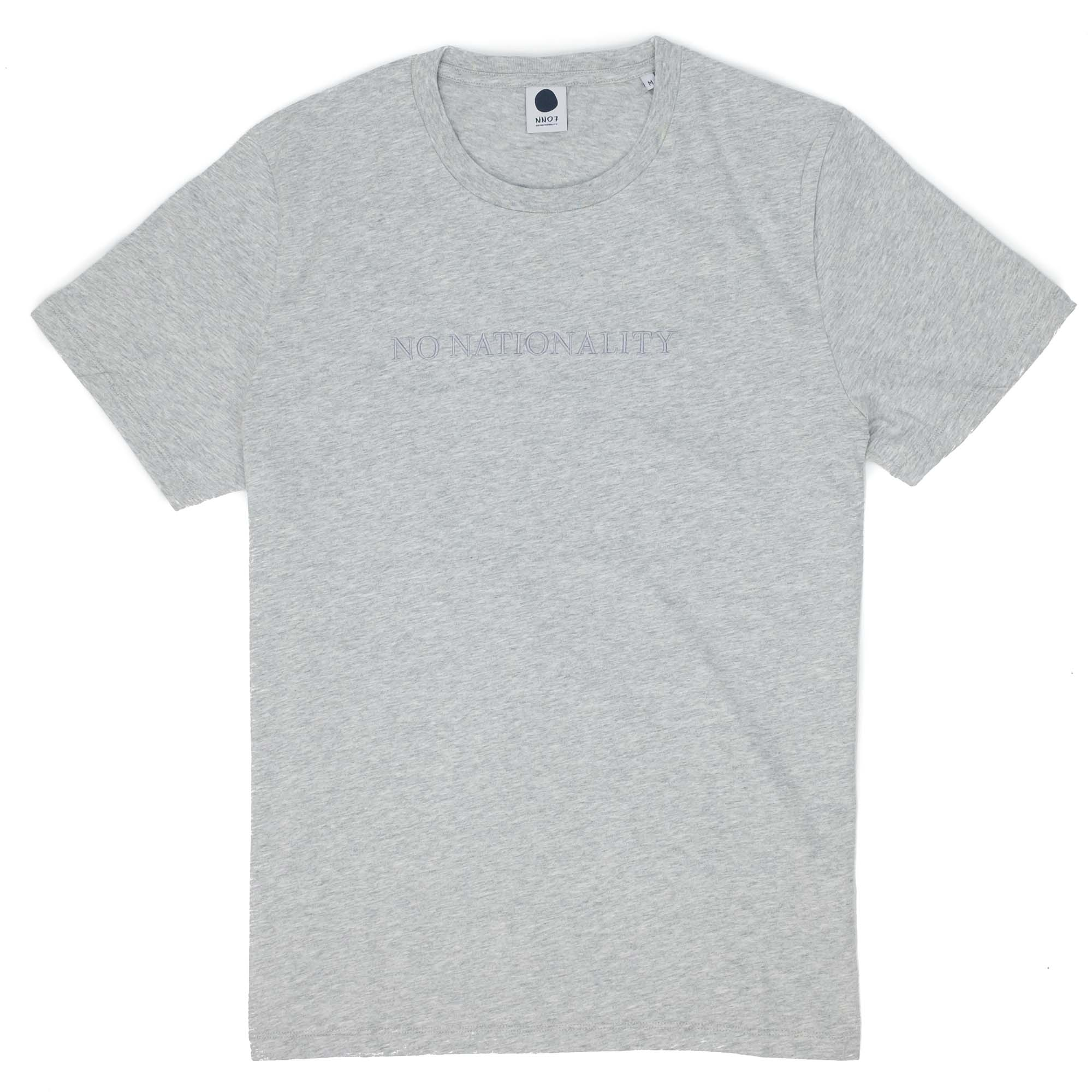 NN07 Michael 3234 Tee - Light Grey Melange