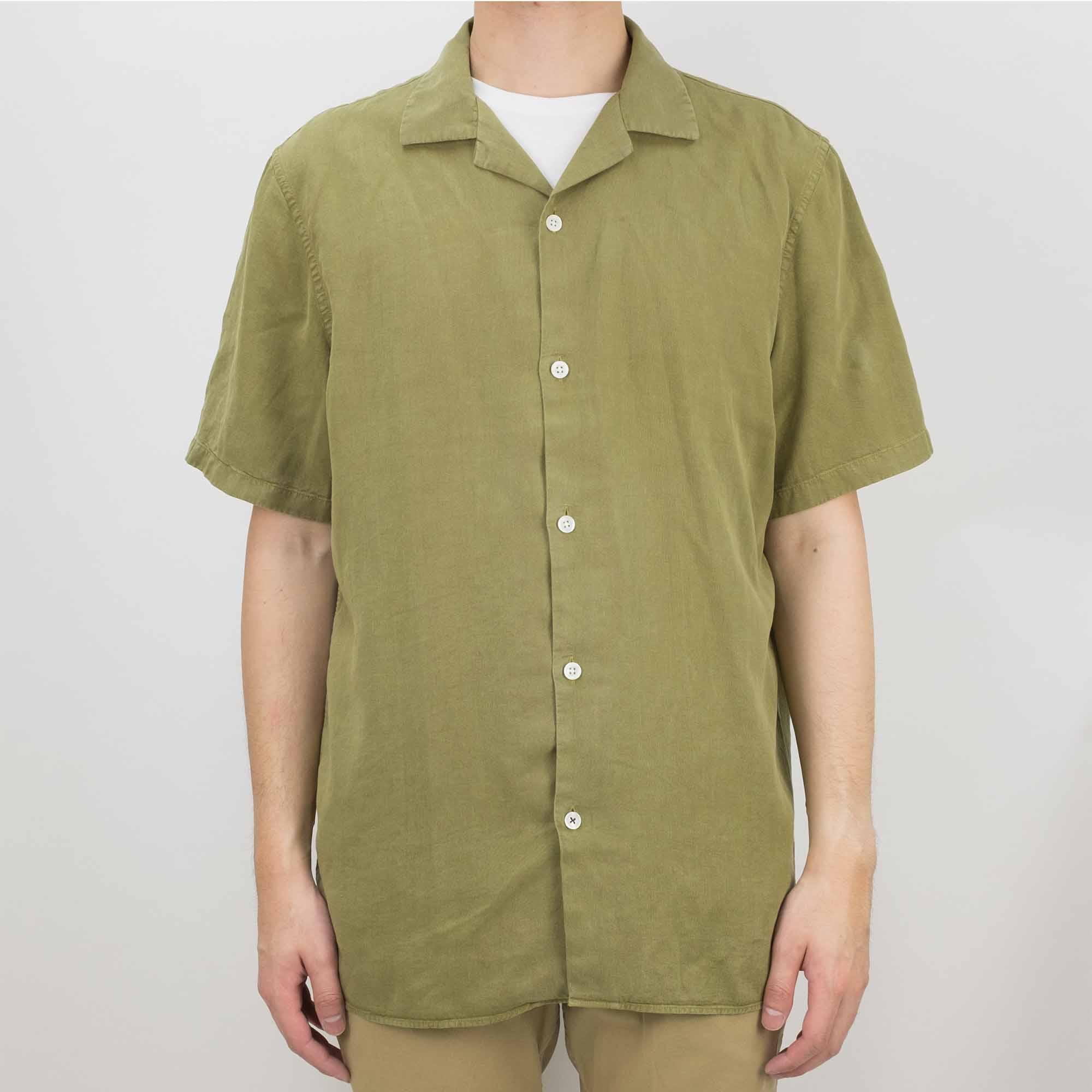 NN07 Miyagi 5029 Lyocell-Linen Shirt - Olive