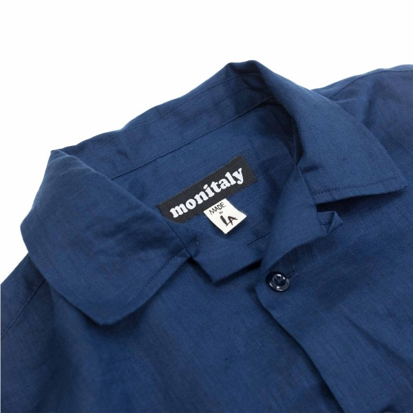 Monitaly Vacation Shirt - Lt Linen Navy