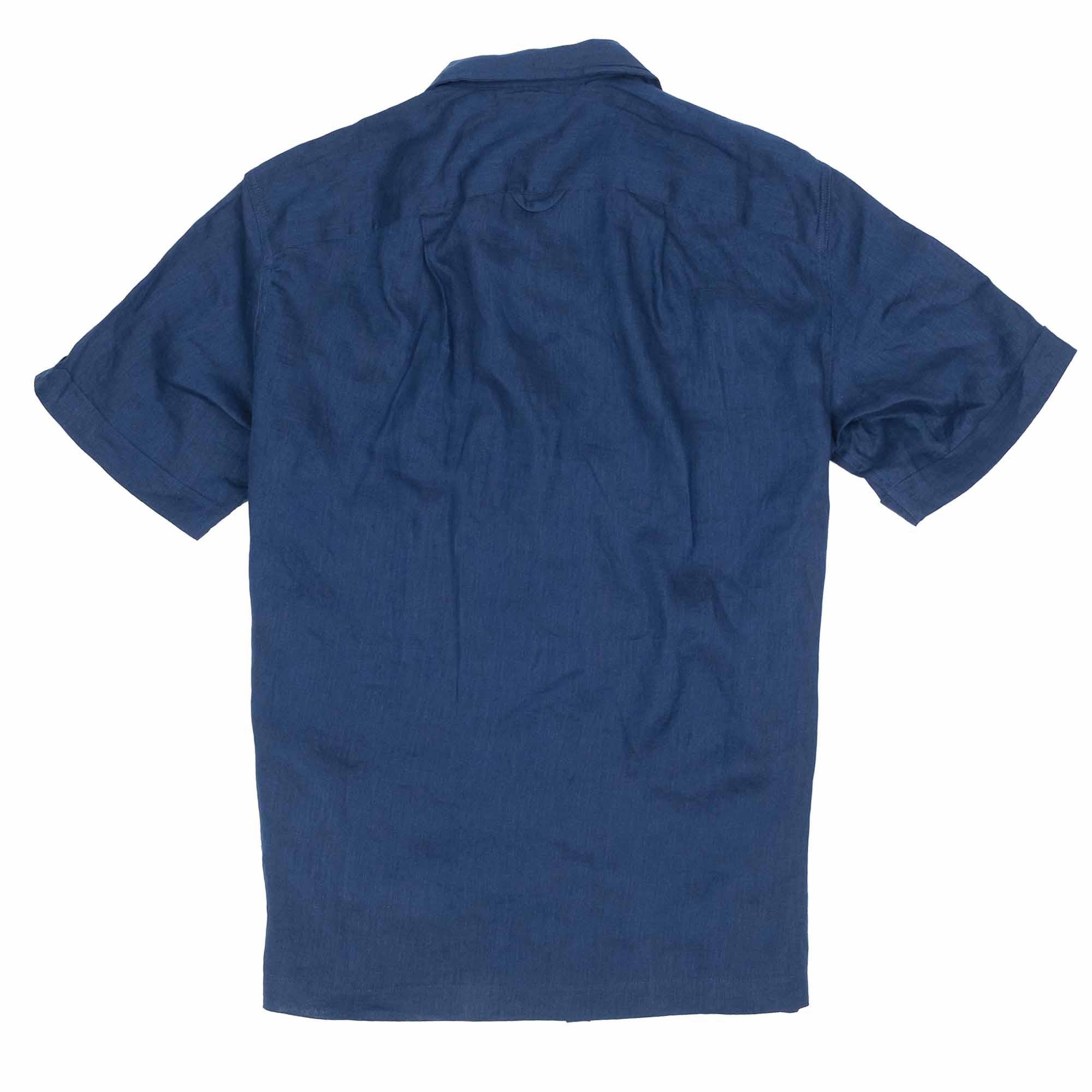 Monitaly Vacation Shirt - Lt Linen Navy