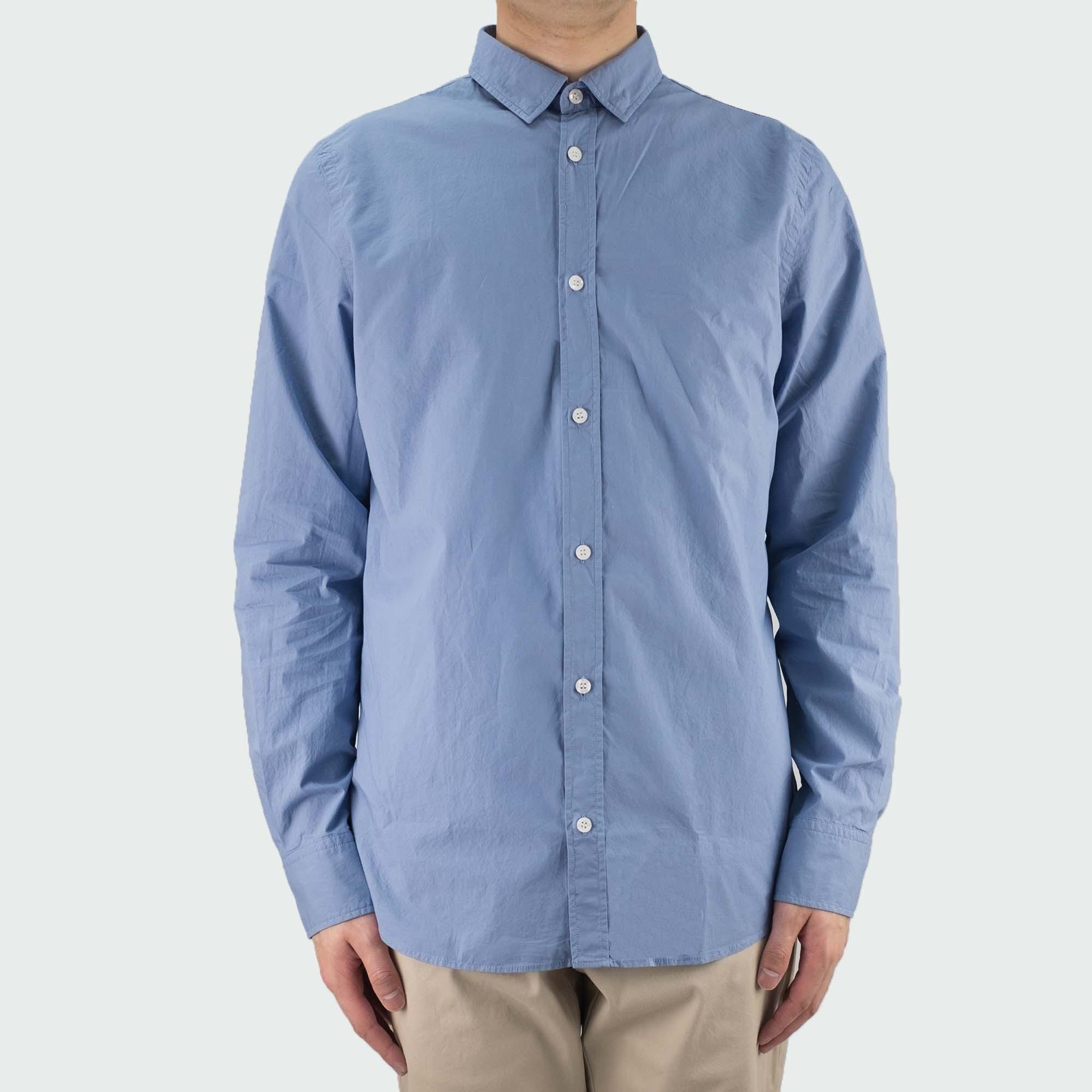 Filippa K Ben Washed Poplin Shirt - Paris Blue
