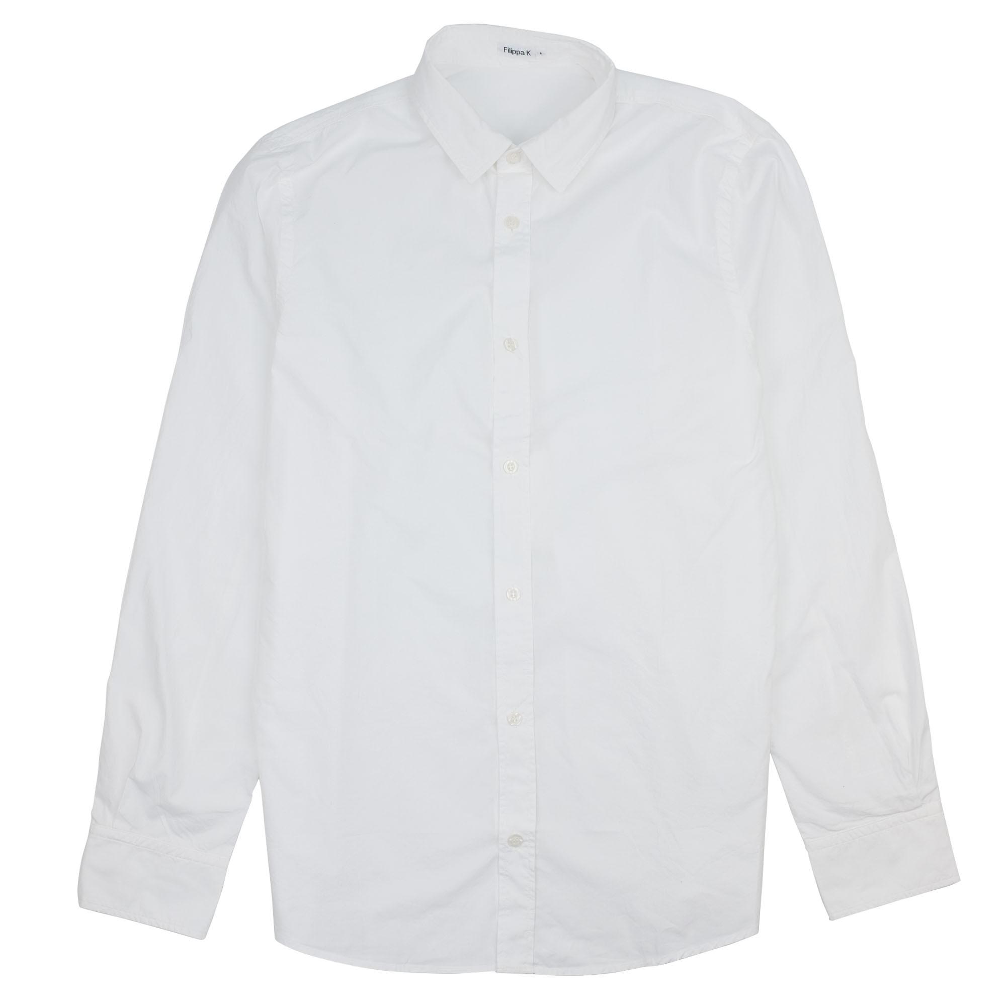 Ben Washed Poplin Shirt White 1