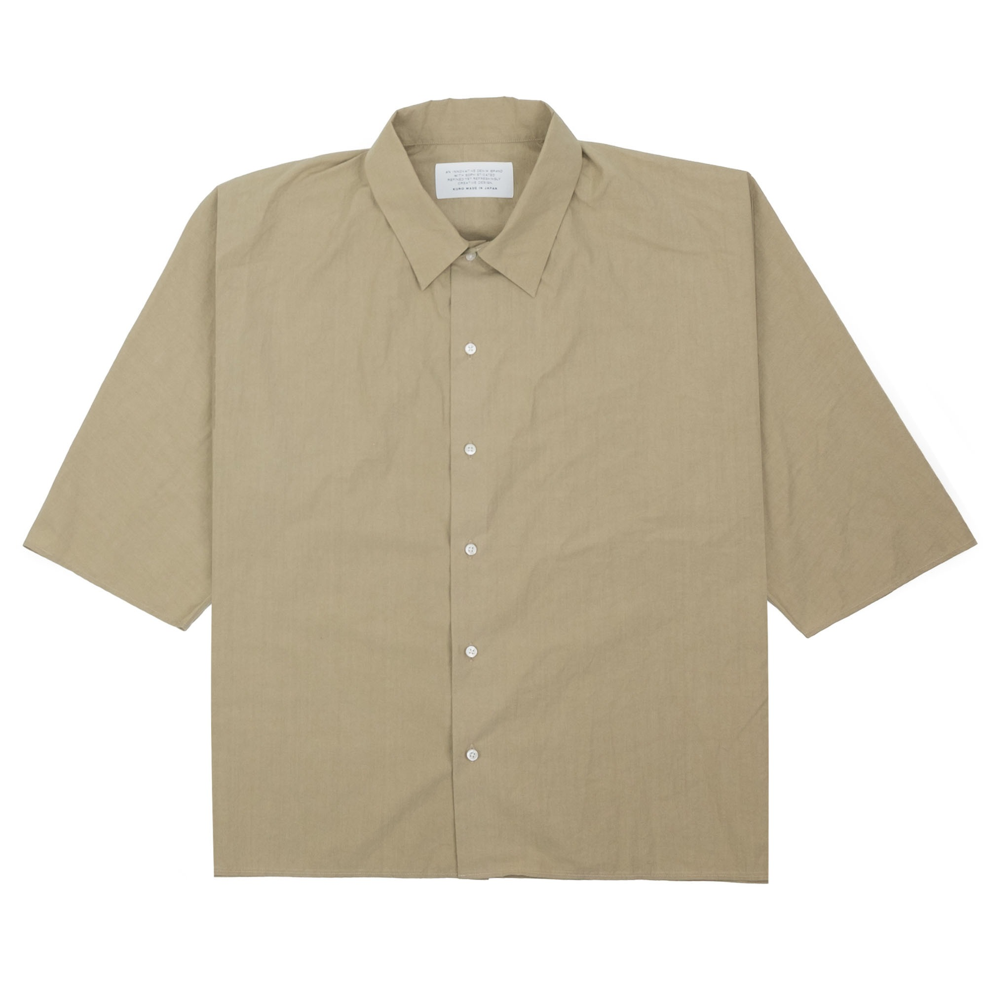 Kuro Dolman Sleeve S/S Shirt - Beige