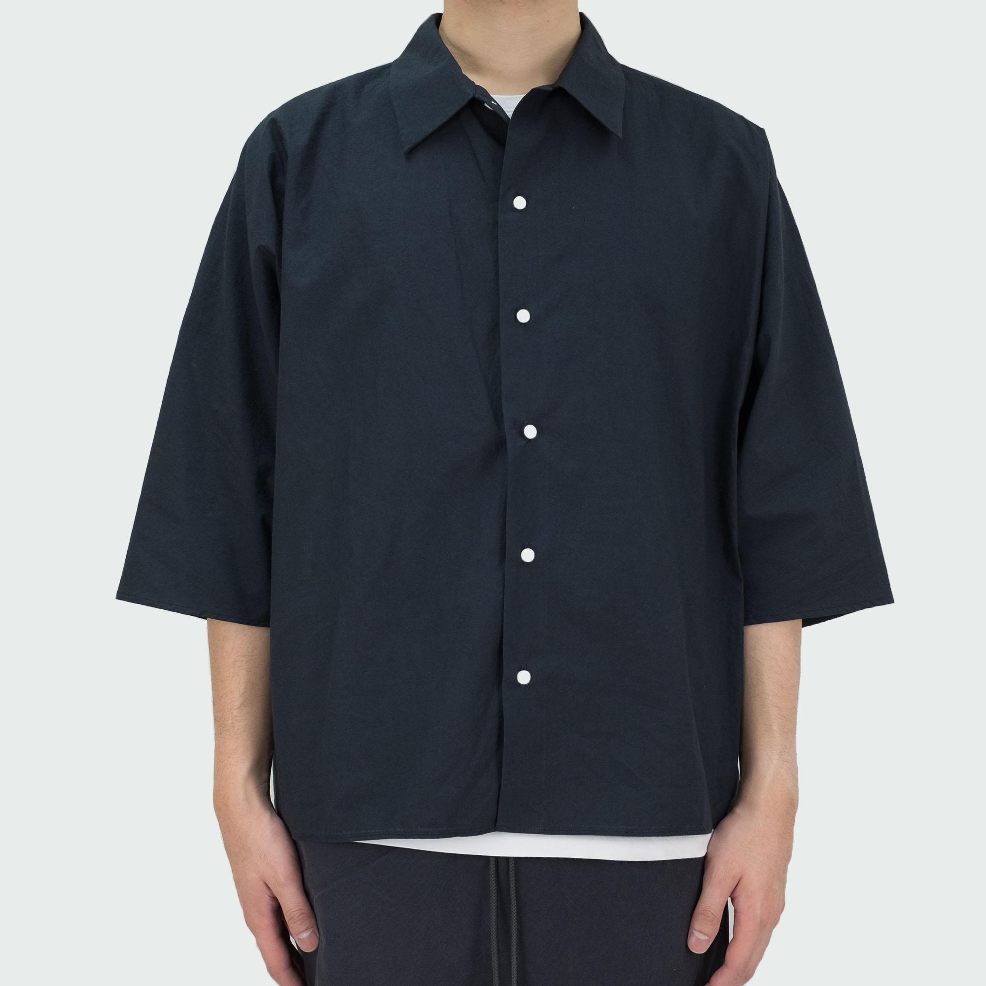 Kuro Dolman Sleeve S/S Shirt - Black