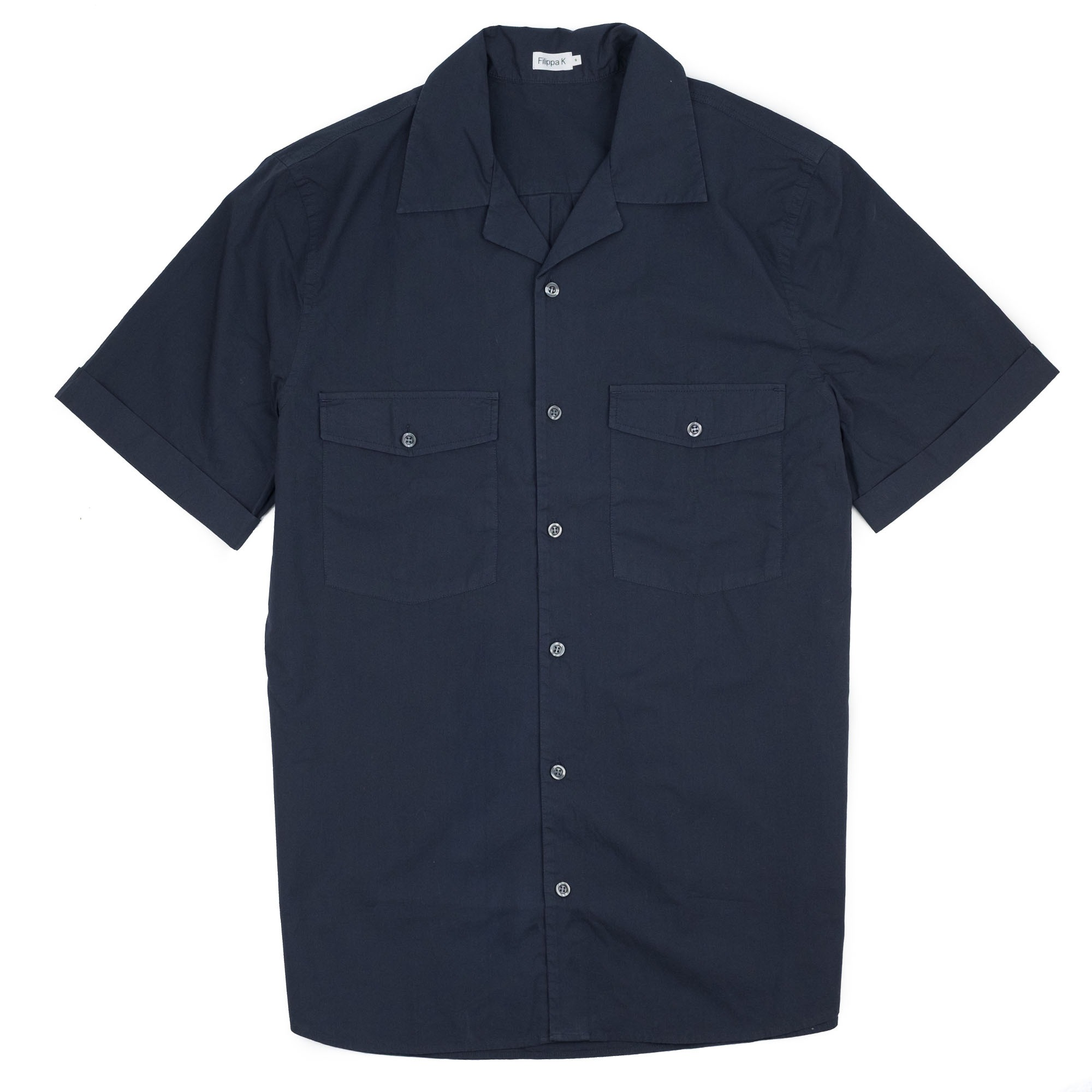 Filippa K Don Washed Poplin Shirt - Dk. Navy