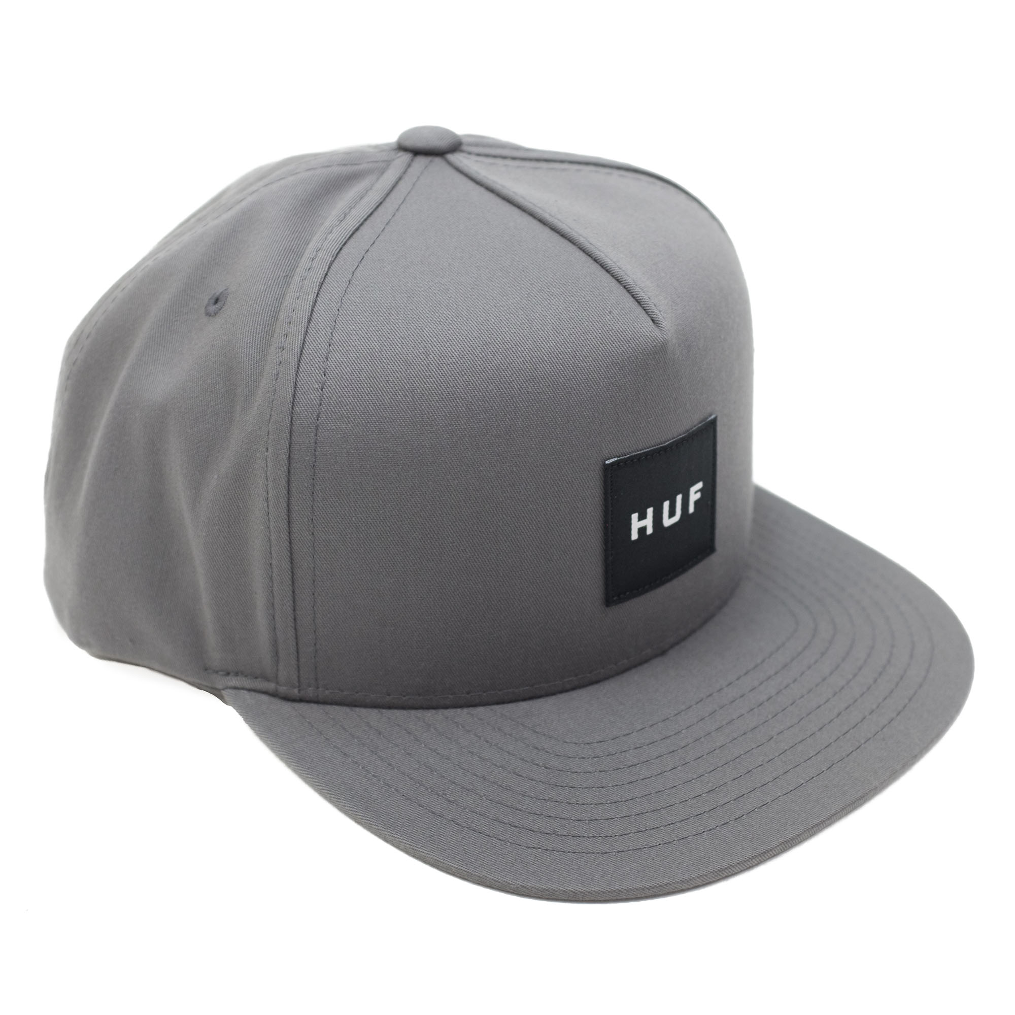 HUF Essentials Box Snapback Hat - Charcoal