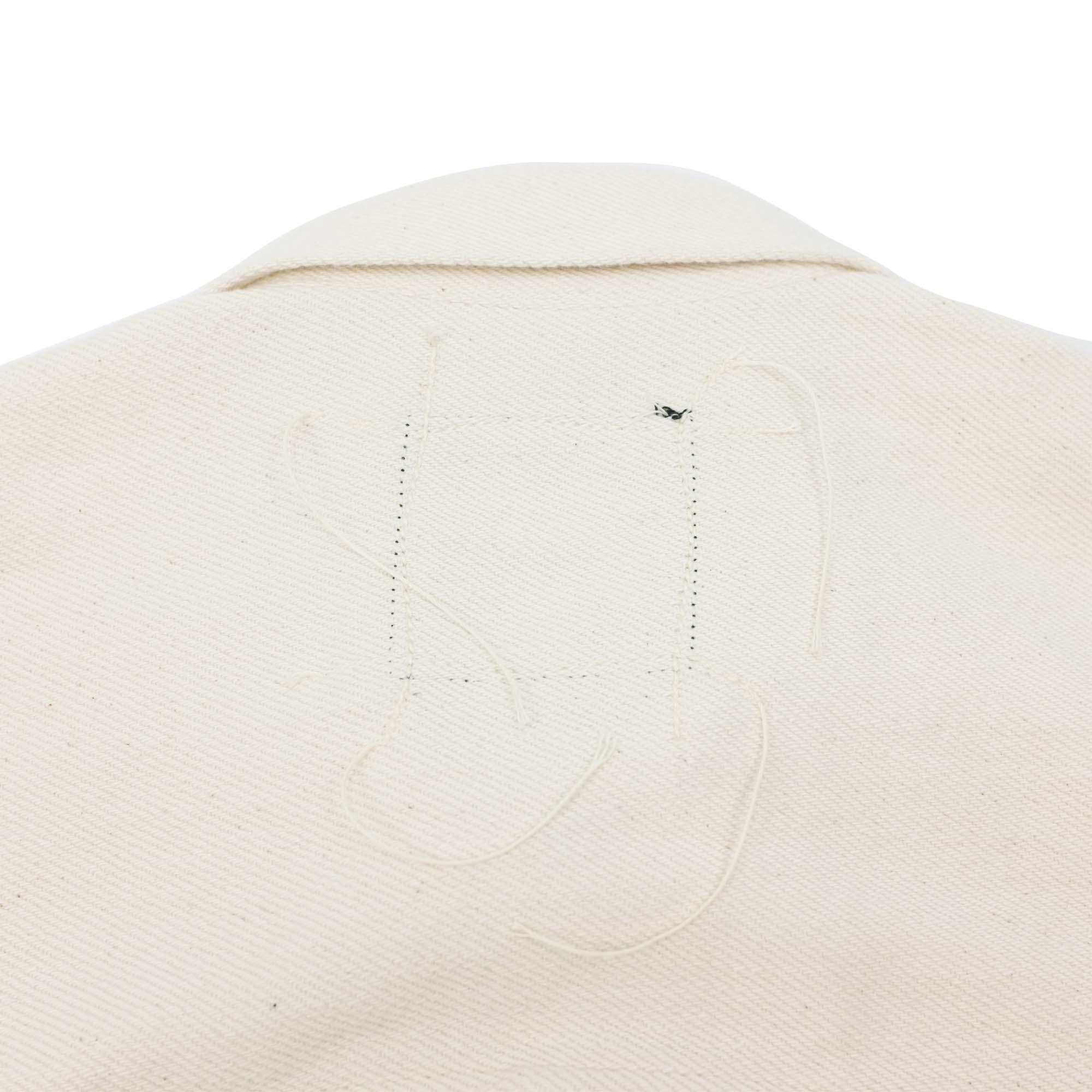 Loose Denim Big Jacket One Wash Off White 10