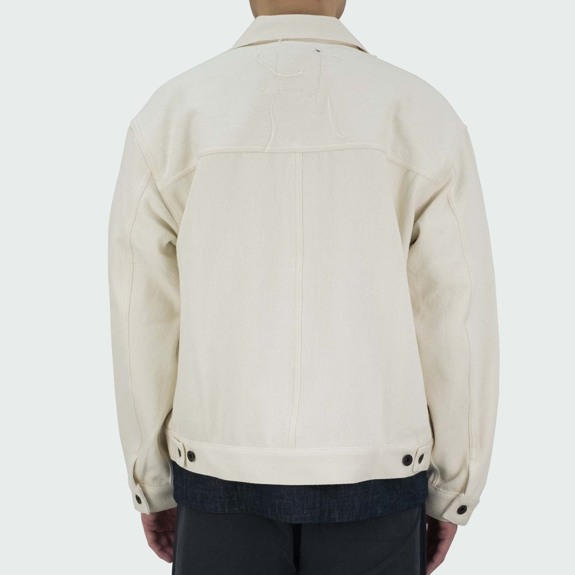 Loose Denim Big Jacket One Wash Off White 4