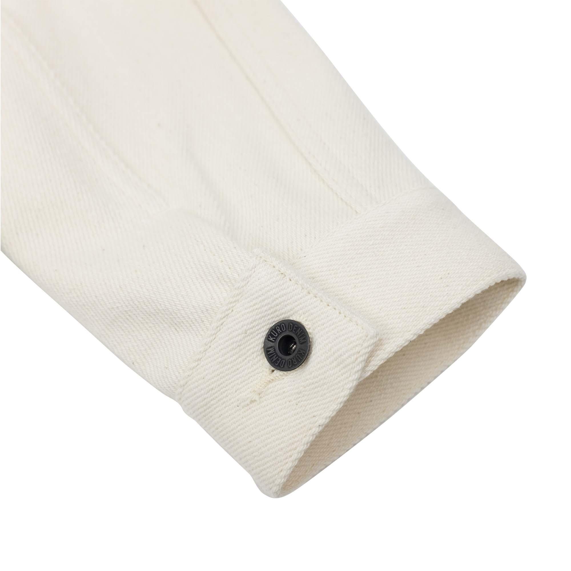 Loose Denim Big Jacket One Wash Off White 9