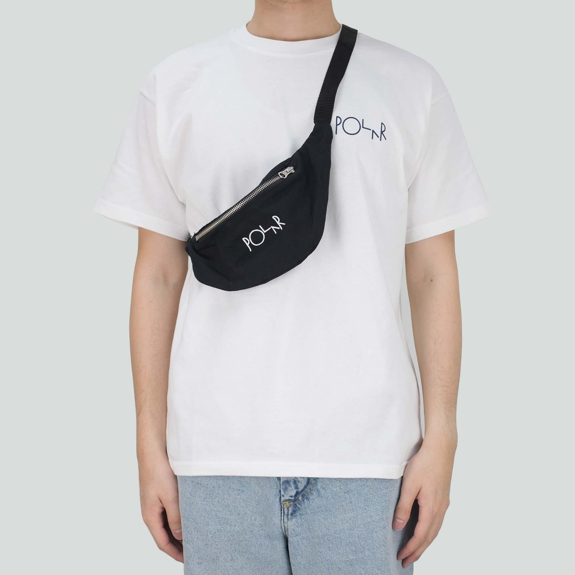 Polar Skate Co. Script Logo Hip Bag - Black