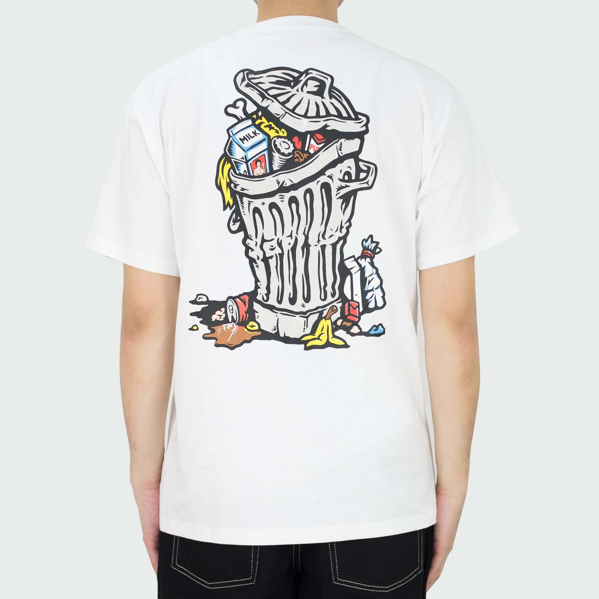 Polar Skate Co. Trashcan Tee - White