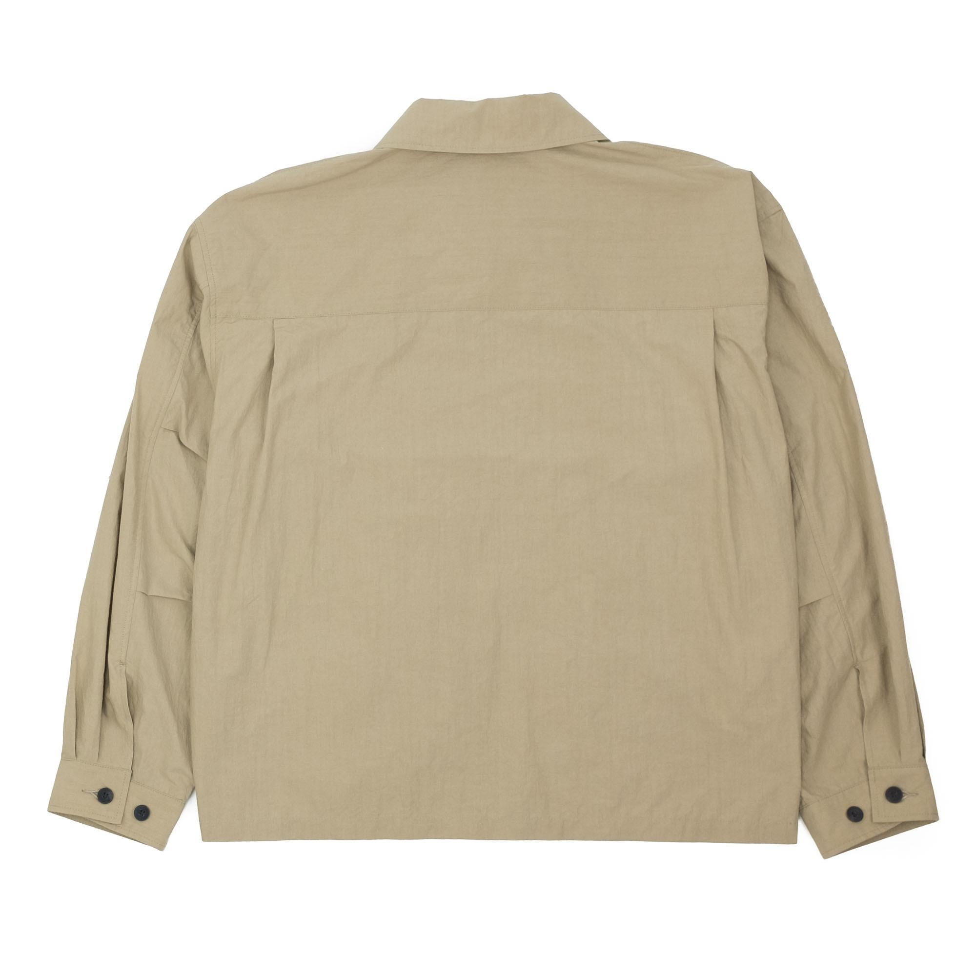 Zip Up Shirt Jacket Beige 10