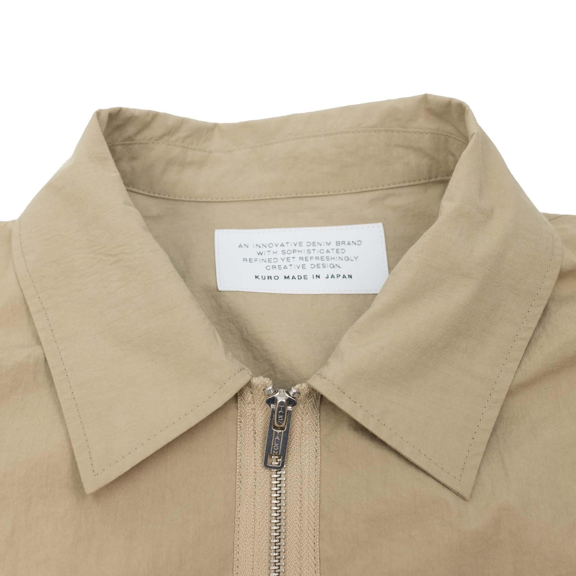 Zip Up Shirt Jacket Beige 5