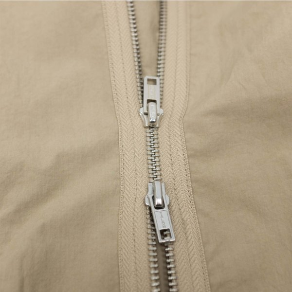 Kuro Zip Up Shirt Jacket - Beige