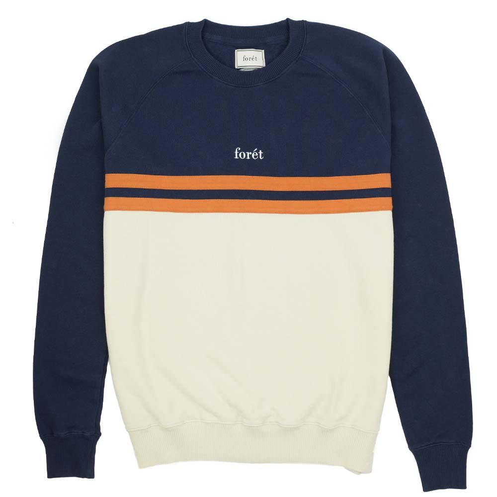 forét Escape Sweatshirt - Midnight Blue - Cream