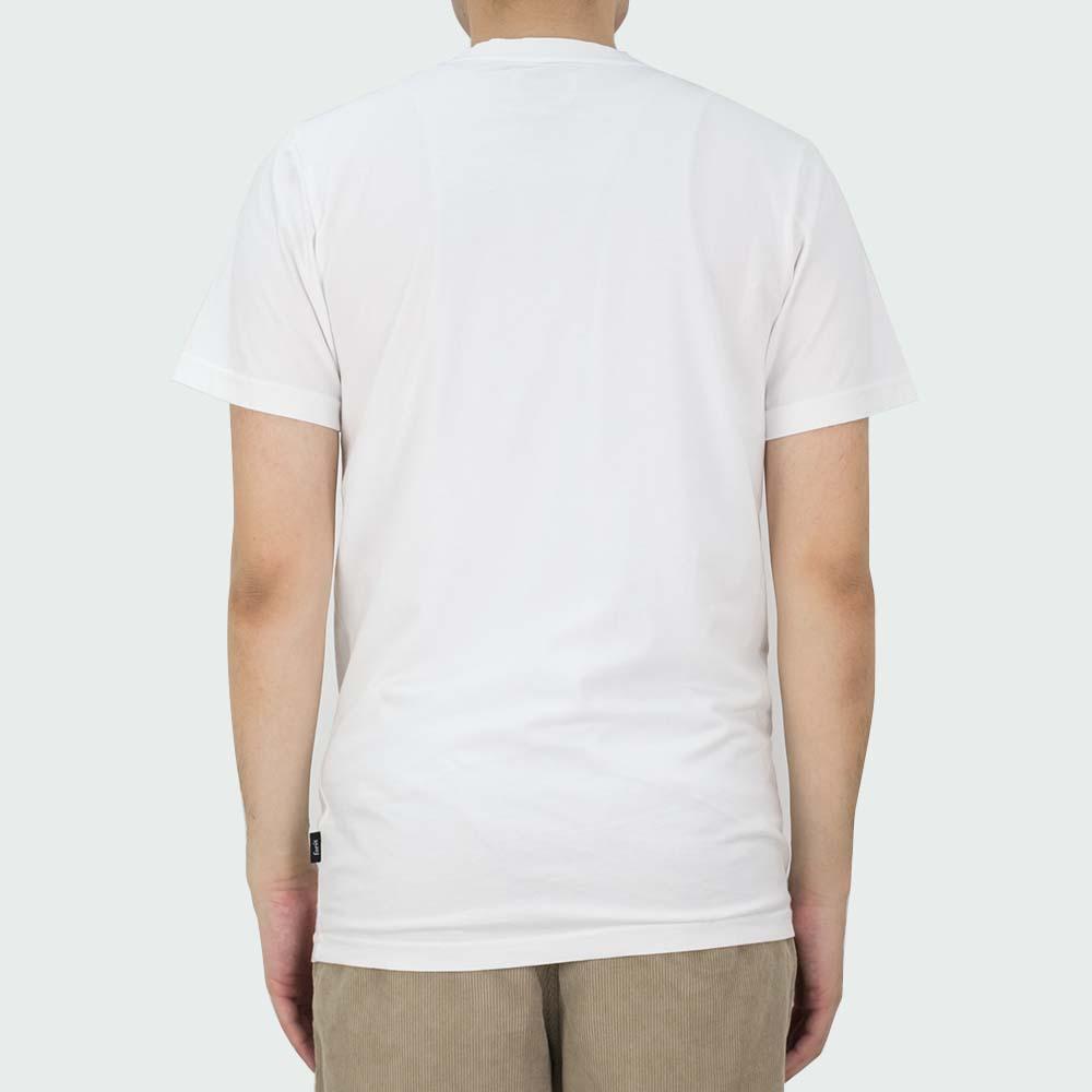 forét Log T Shirt - White - Blue